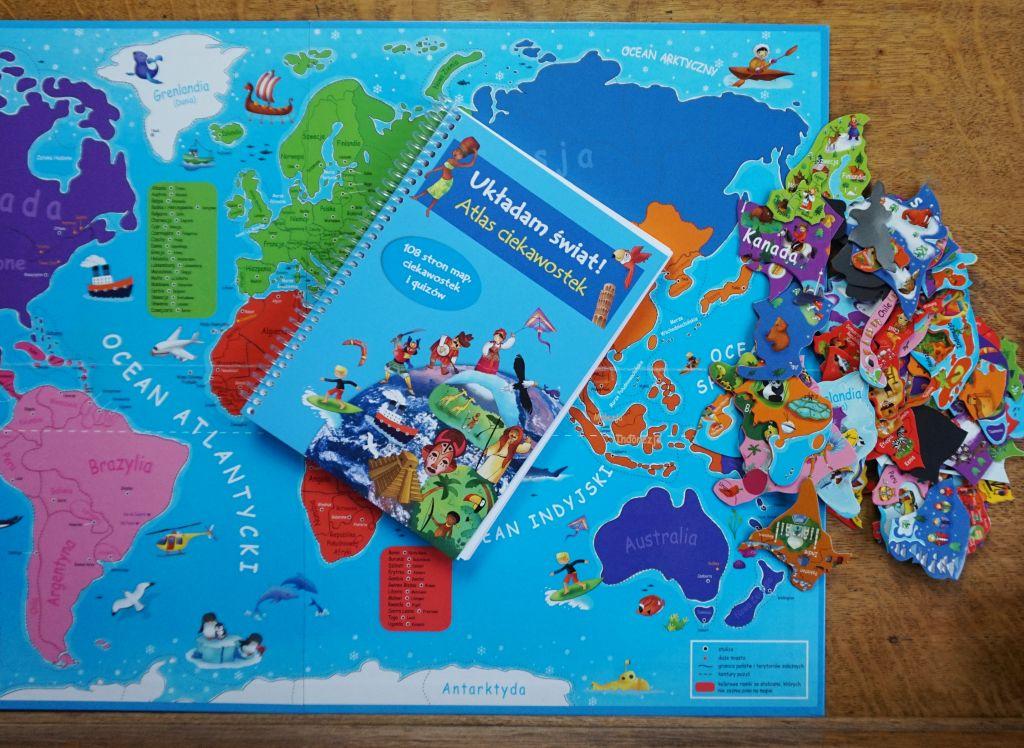Atlas z puzzlami magnetycznymi