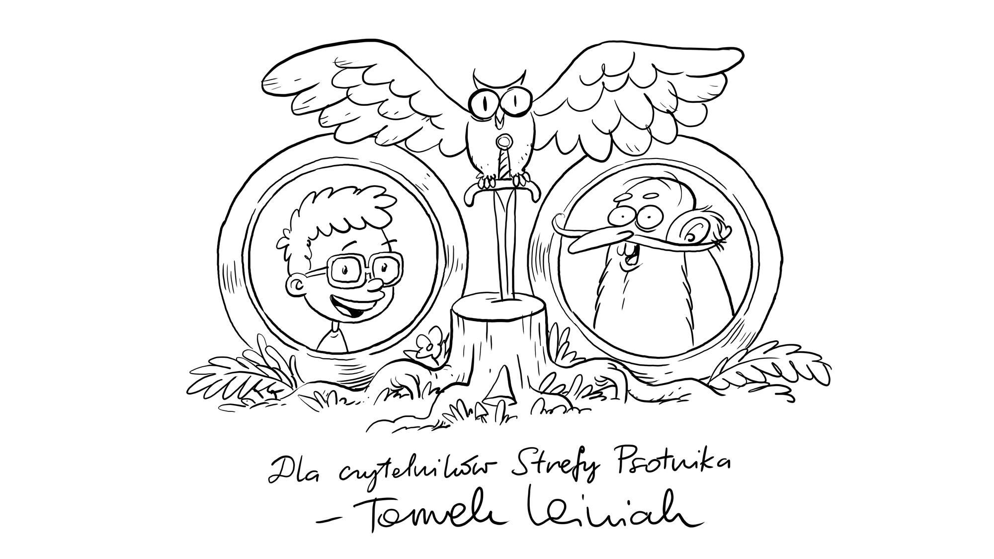 """""""Tymek i Mistrz"""" ilustracja Tomka Leśniaka"""