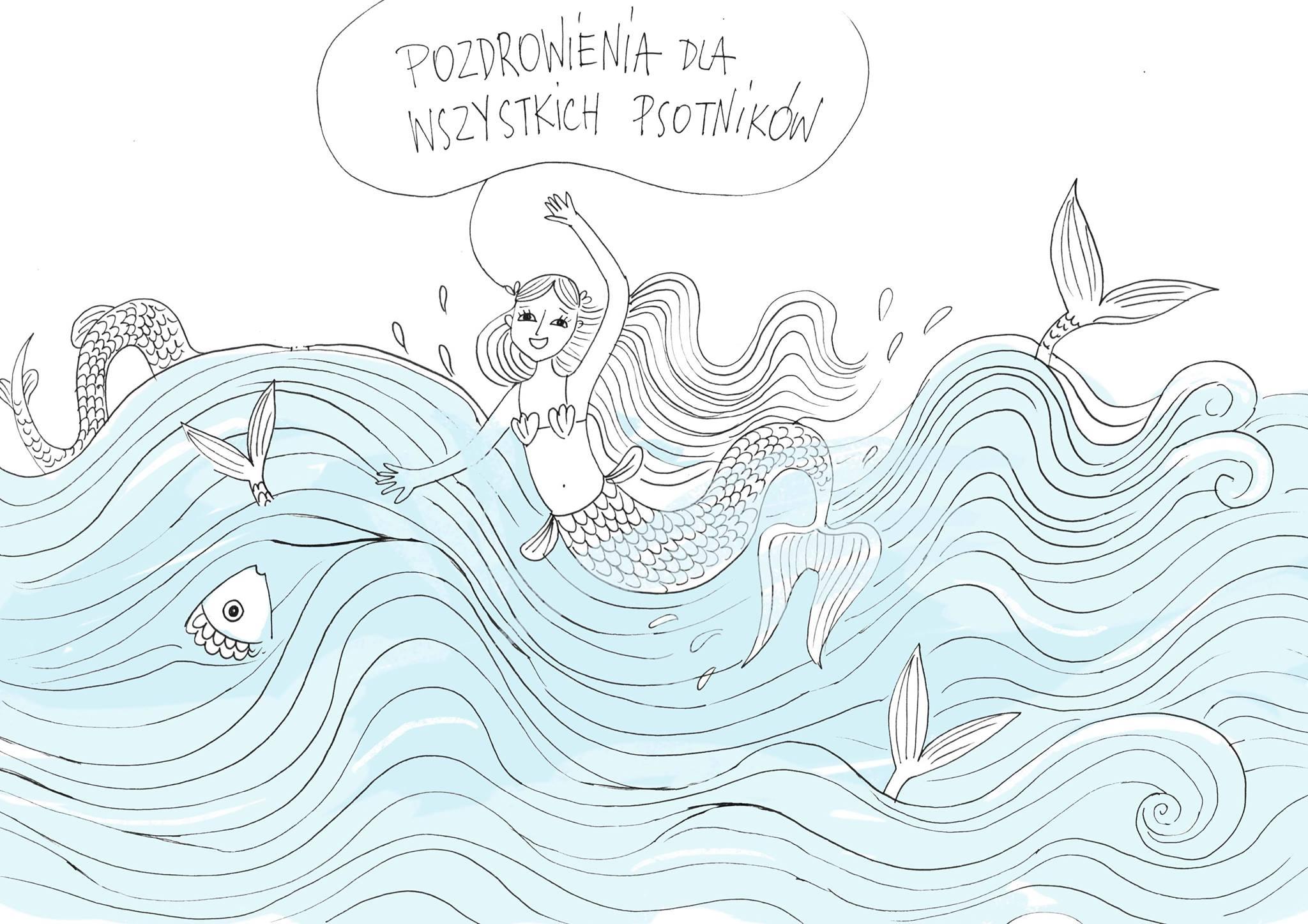 """""""Syrenki"""" ilustracja Agnieszki Antoniewicz"""
