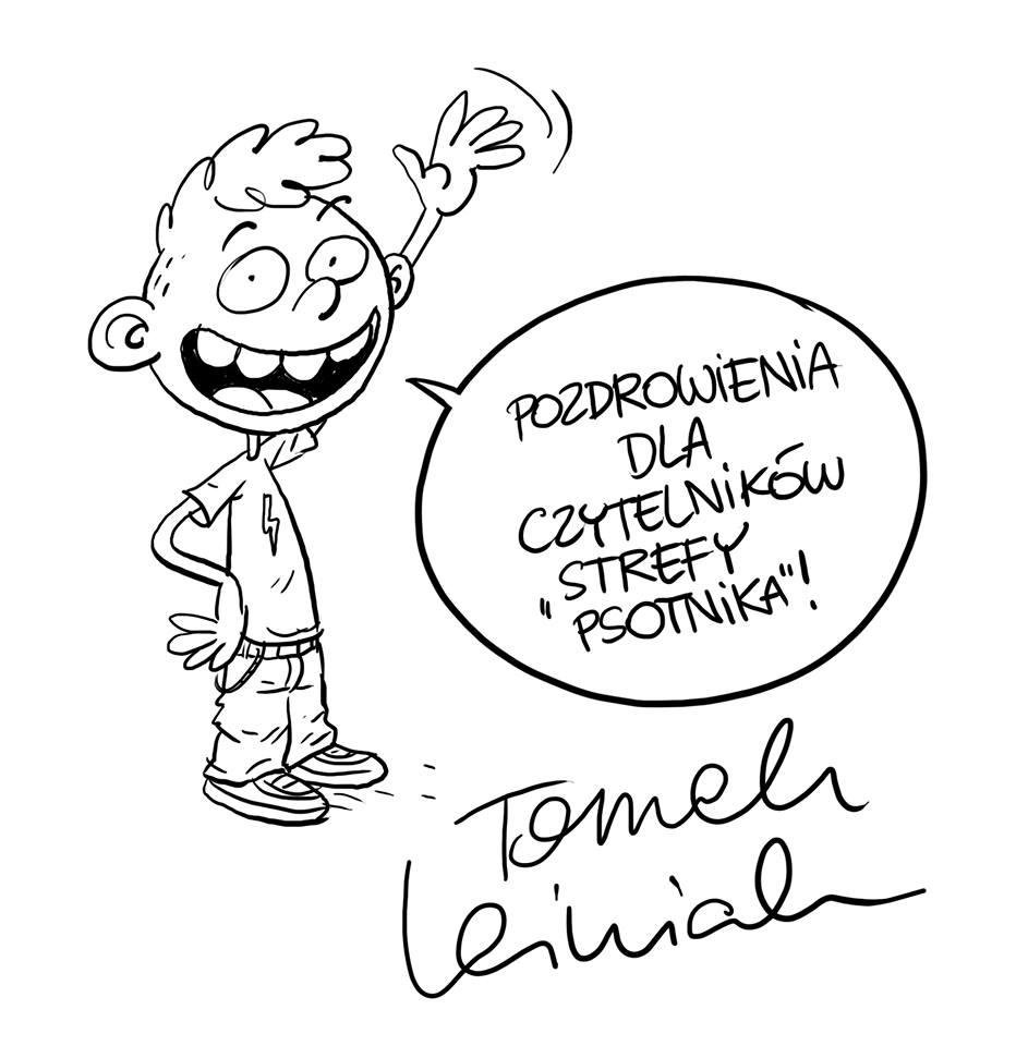 """""""Hej, Jędrek! Masz cykora!"""" ilustracja Tomasza Leśniaka"""