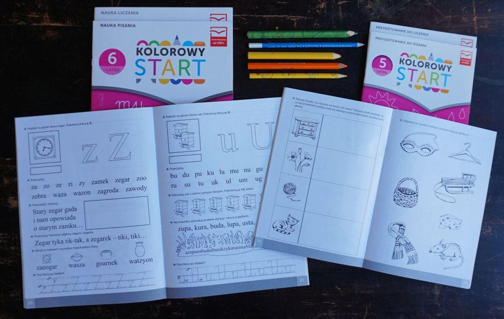 """recenzja """"Kolorowy start"""" z MAC Edukacja 5 i 6 lat"""