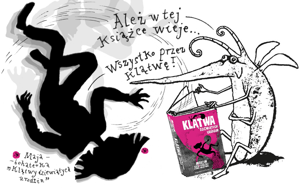 """""""Klątwa dziewiątych urodzin"""" ilustracja Magdy Wosik"""