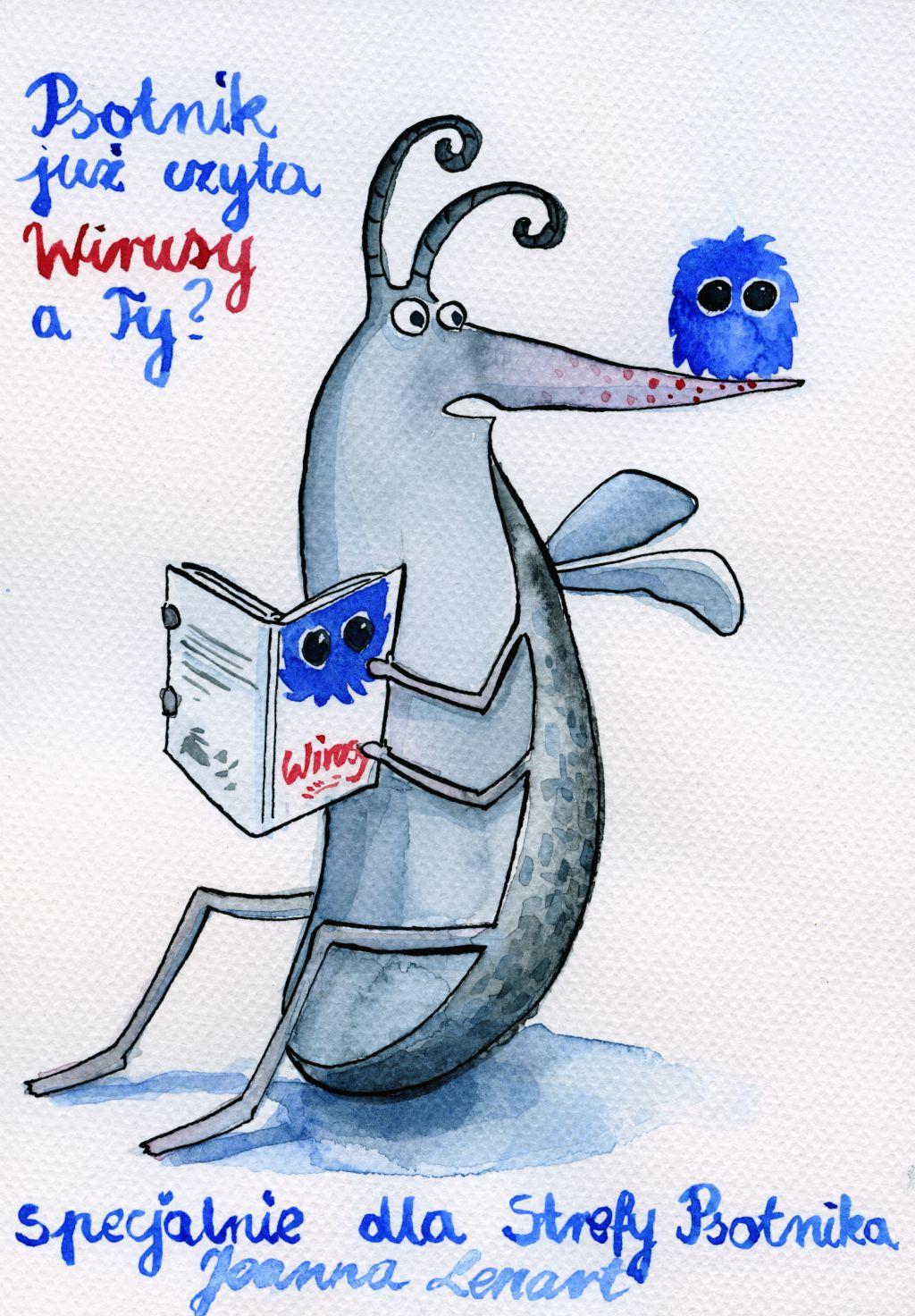 """Wirusy"" ilustracja Joanny Lenart"