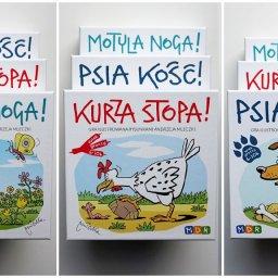 Gry karciane dla dzieci i rodziców z rysunkami Andrzeja Mleczki