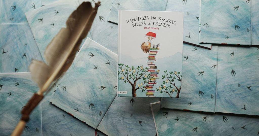 Najwyższa na świecie wieża z książek - dla dzieci o miłości do czytania