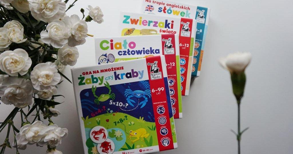 Edukacyjne gry planszowe Kapitan Nauka - idealne prezenty
