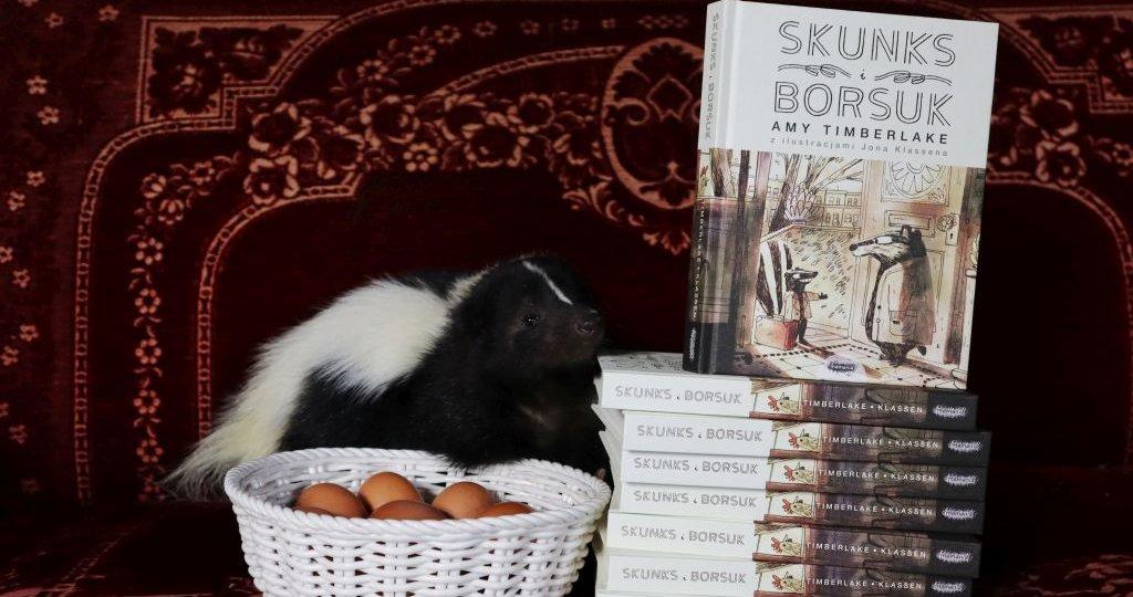Skunks i Borsuk - powieść o przyjaźni z ilustracjami Jona Klassena